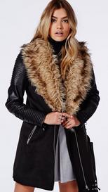 Women's Faux Leather Coat